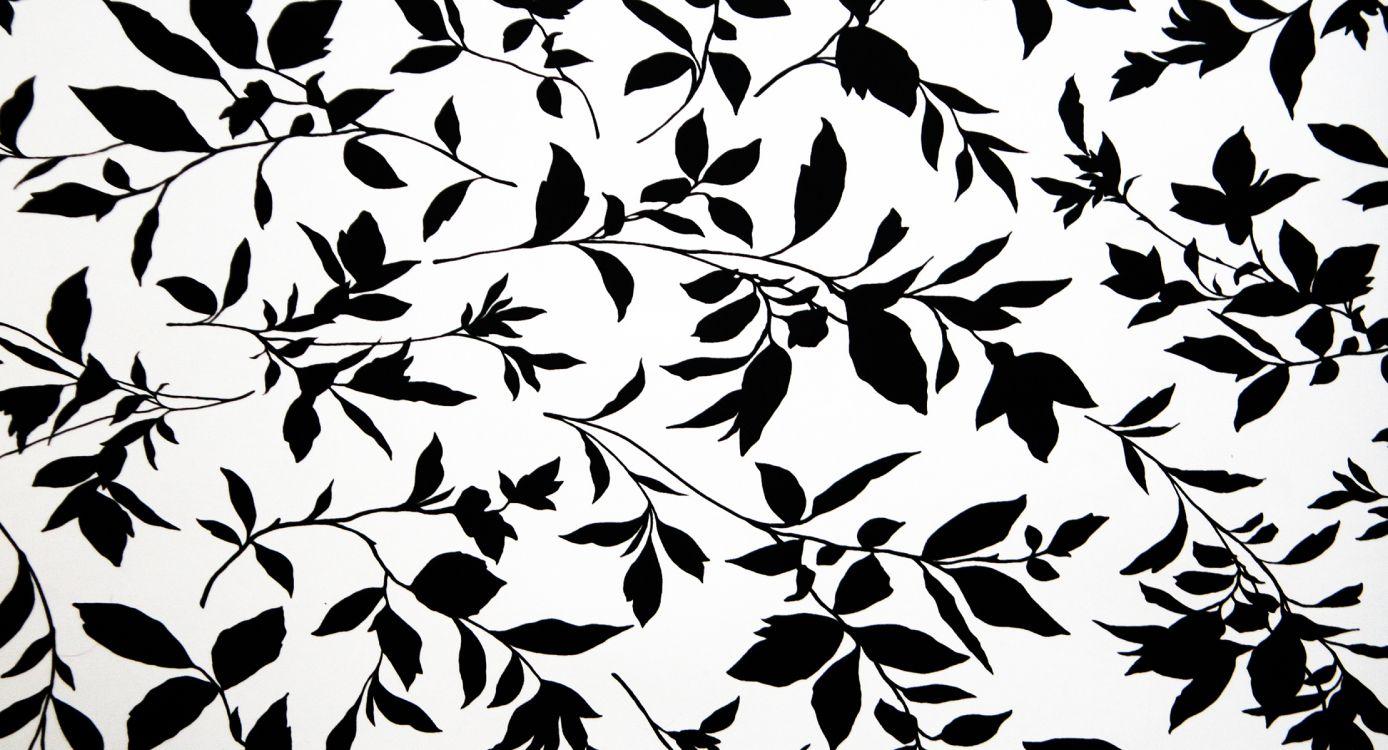 Темные обои на стену с листьями