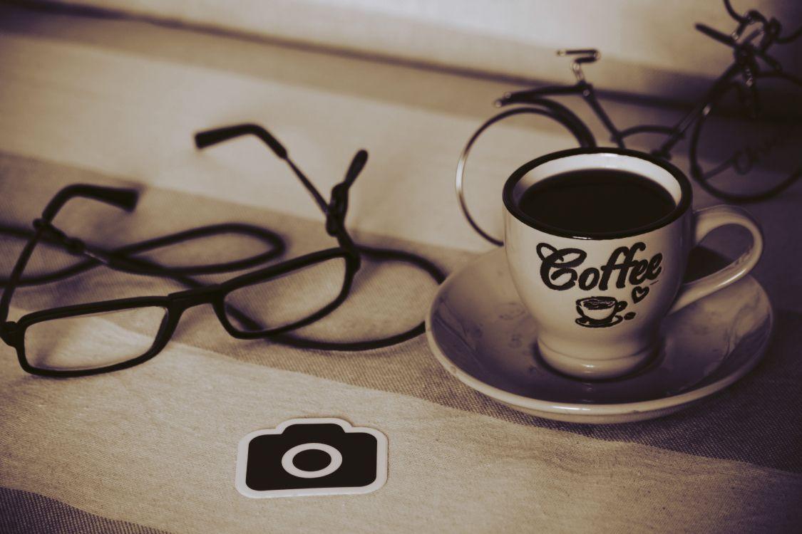 Обои посуда, чашка, кофейное зерно, кофе эспрессо, кофейная чашка в разрешении 6000x4000