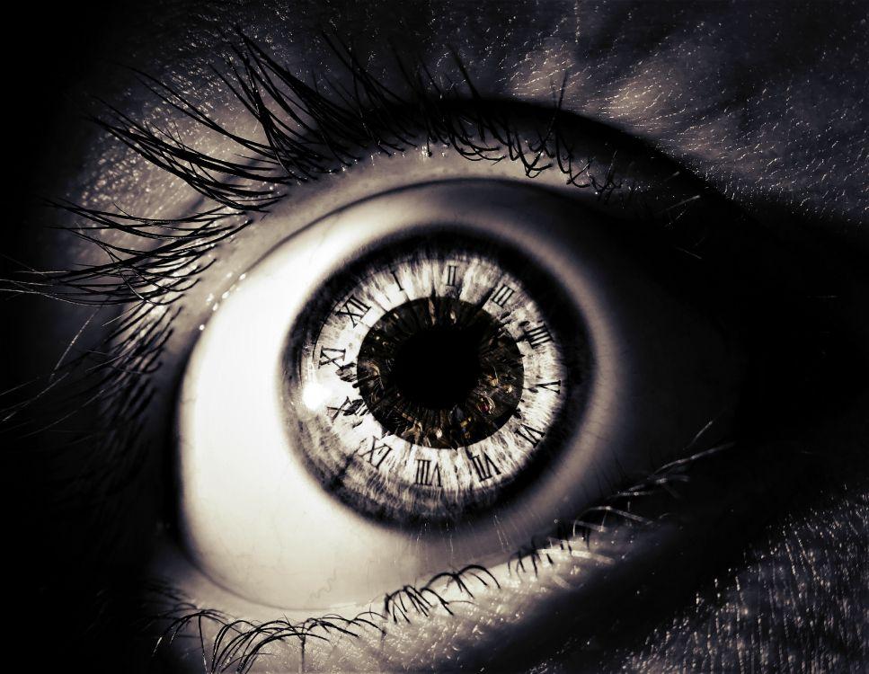Обои ученик, глаз, радужная оболочка, черный, ресничка в разрешении 4095x3173
