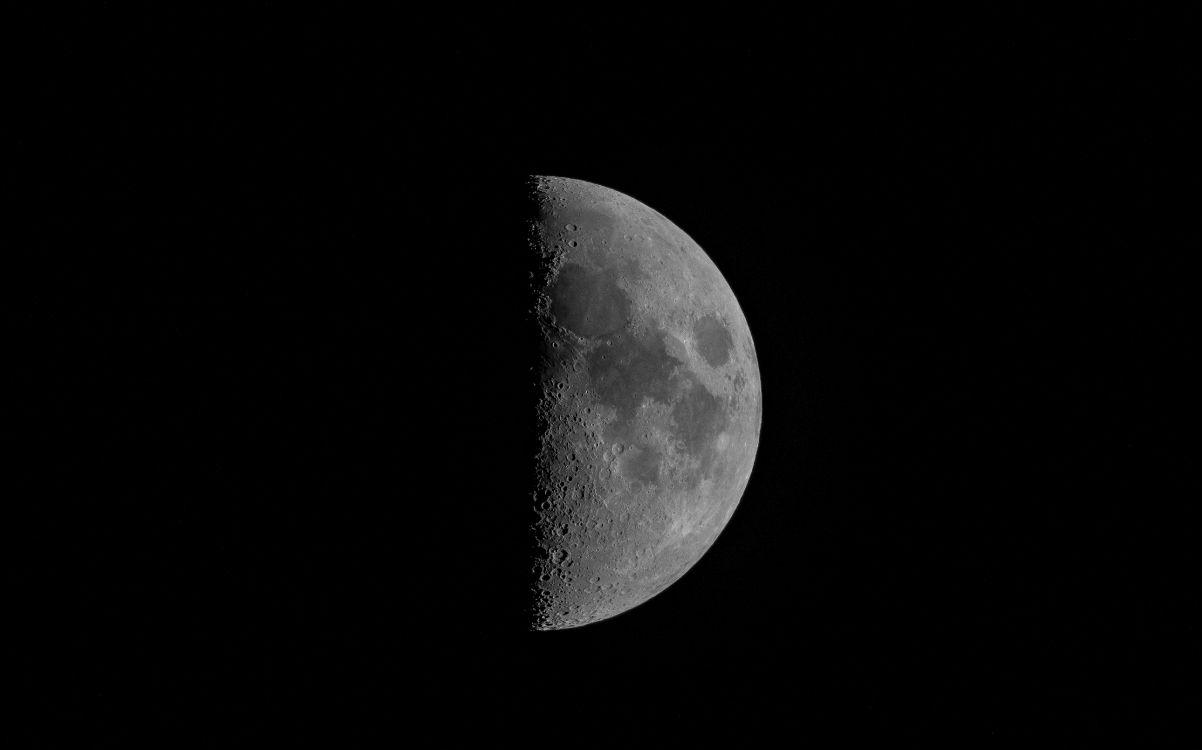 Обои черный и белый, небесное явление, полумесяц, земля, Лунная фаза в разрешении 4987x3111