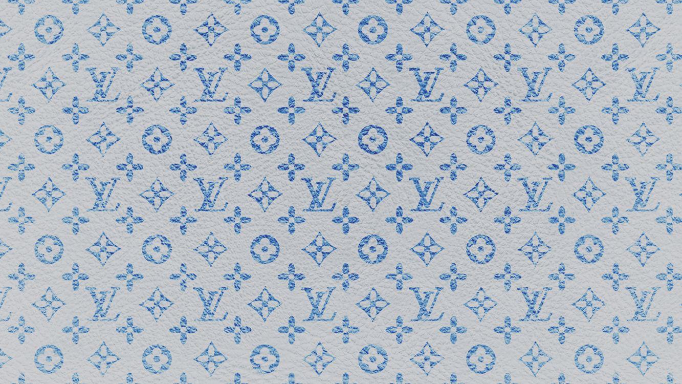 Обои ткань, синий, узор, Верховный, Louis Vuitton в разрешении 3840x2160
