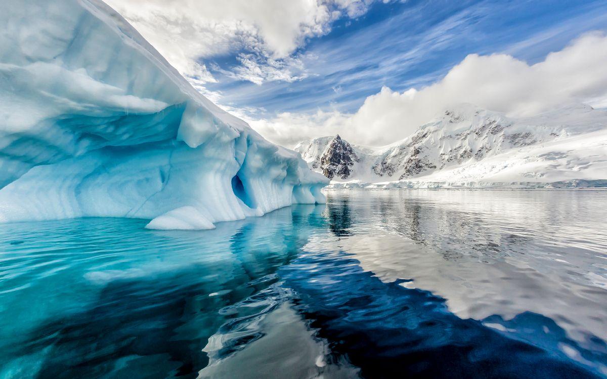 Обои Ледовый Щит Западной Антарктики, ледниковый щит, Арктика, вода, лед в разрешении 3840x2400