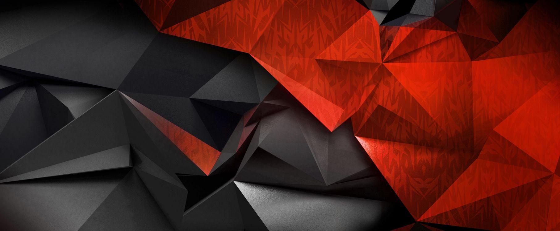 Обои дизайн, графический дизайн, симметрия, треугольник, Панель IPS в разрешении 5064x2093