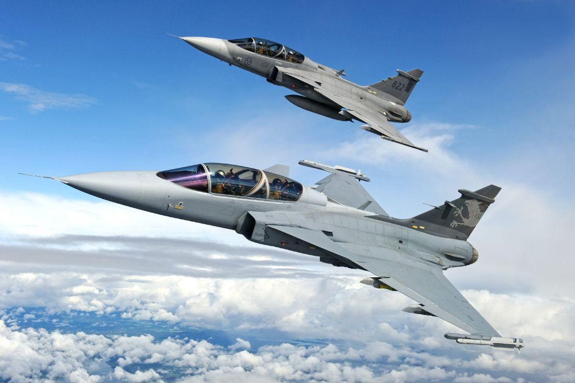 Обои истребитель, gripen, многоцелевой, Saab jas 39. Авиация foto 11