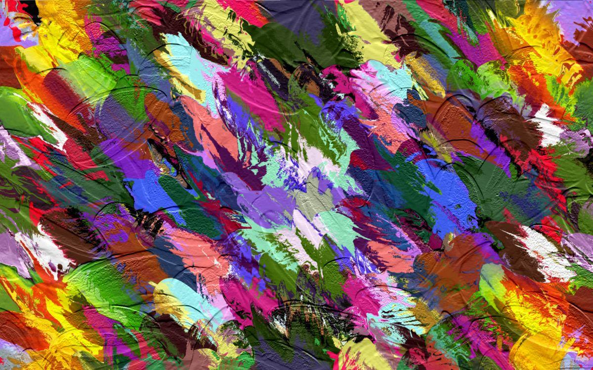 Картинка много цветов пятна