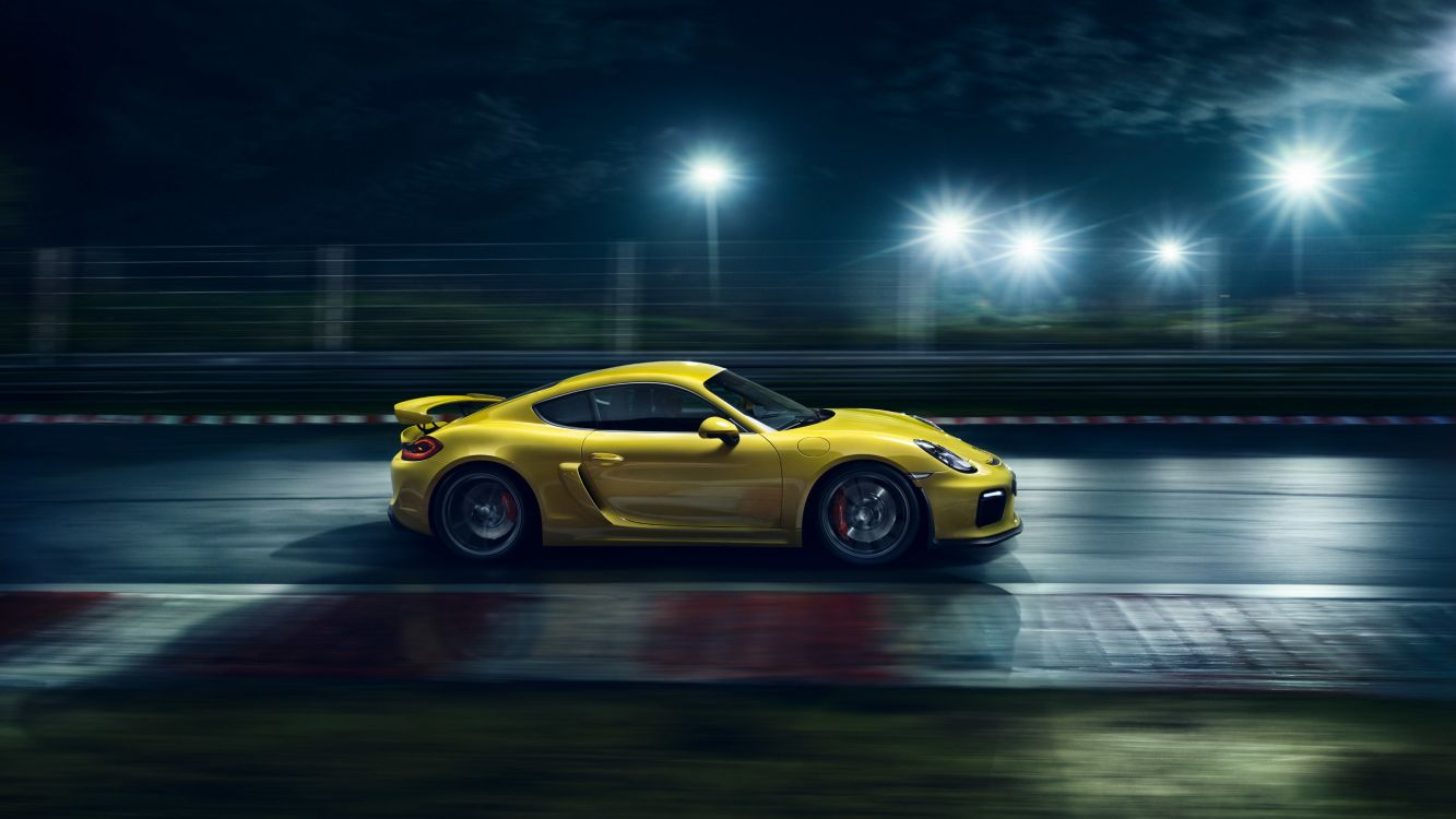 Обои Порше 918 Спайдер, желтый, спортивный гоночный автомобиль, porsche 911 gt3, Порше Boxster каймановы в разрешении 3200x1800