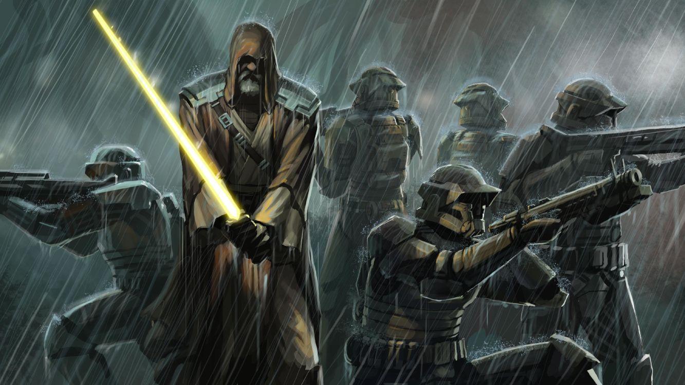 Обои темнота, войны клонов, Звездные войны старая Республика, оружие, звездные войны в разрешении 4444x2500