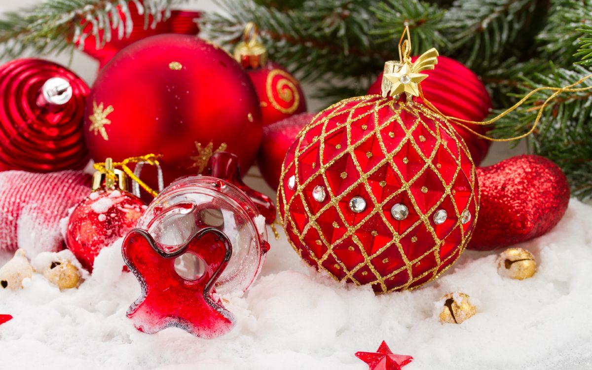 Обои Рождественский день, Новый год, Дед Мороз, Рождественские украшения, пихта в разрешении 3840x2400