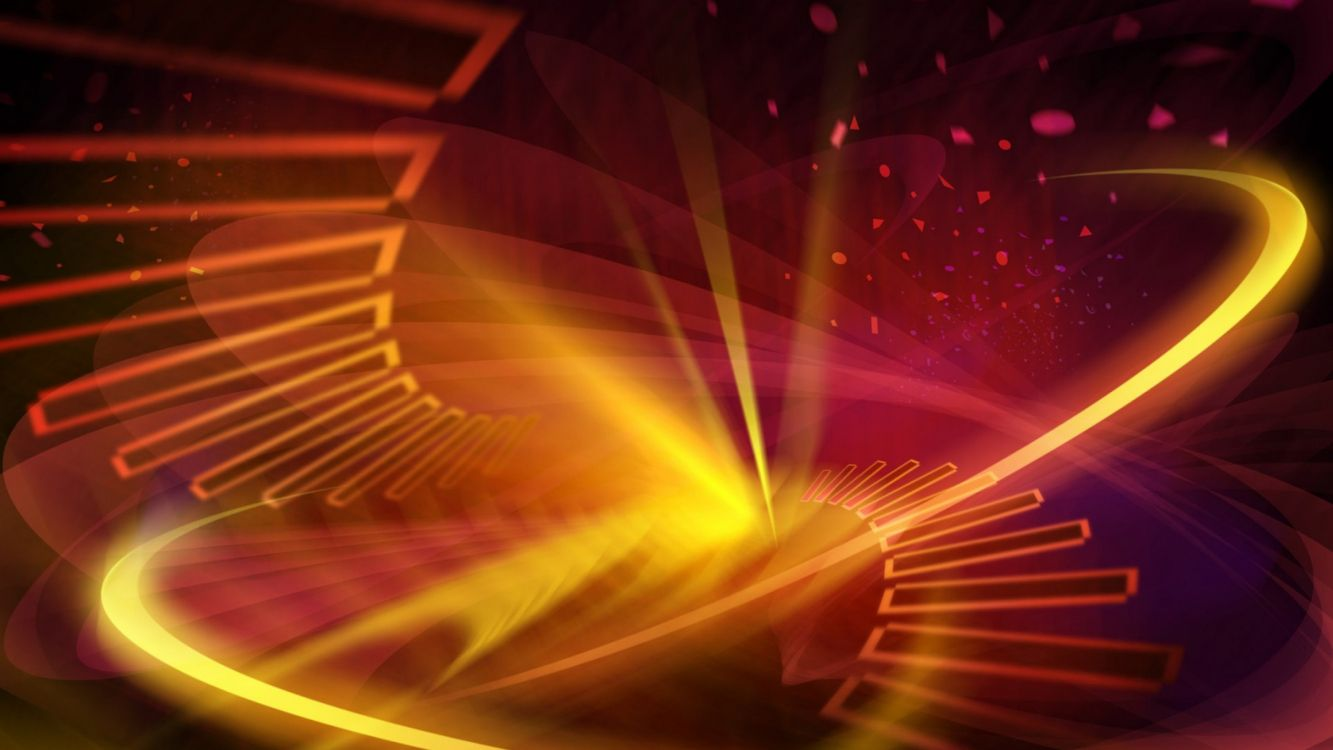 Обои пространство, фрактальное искусство, линия, свет, круг в разрешении 3840x2160