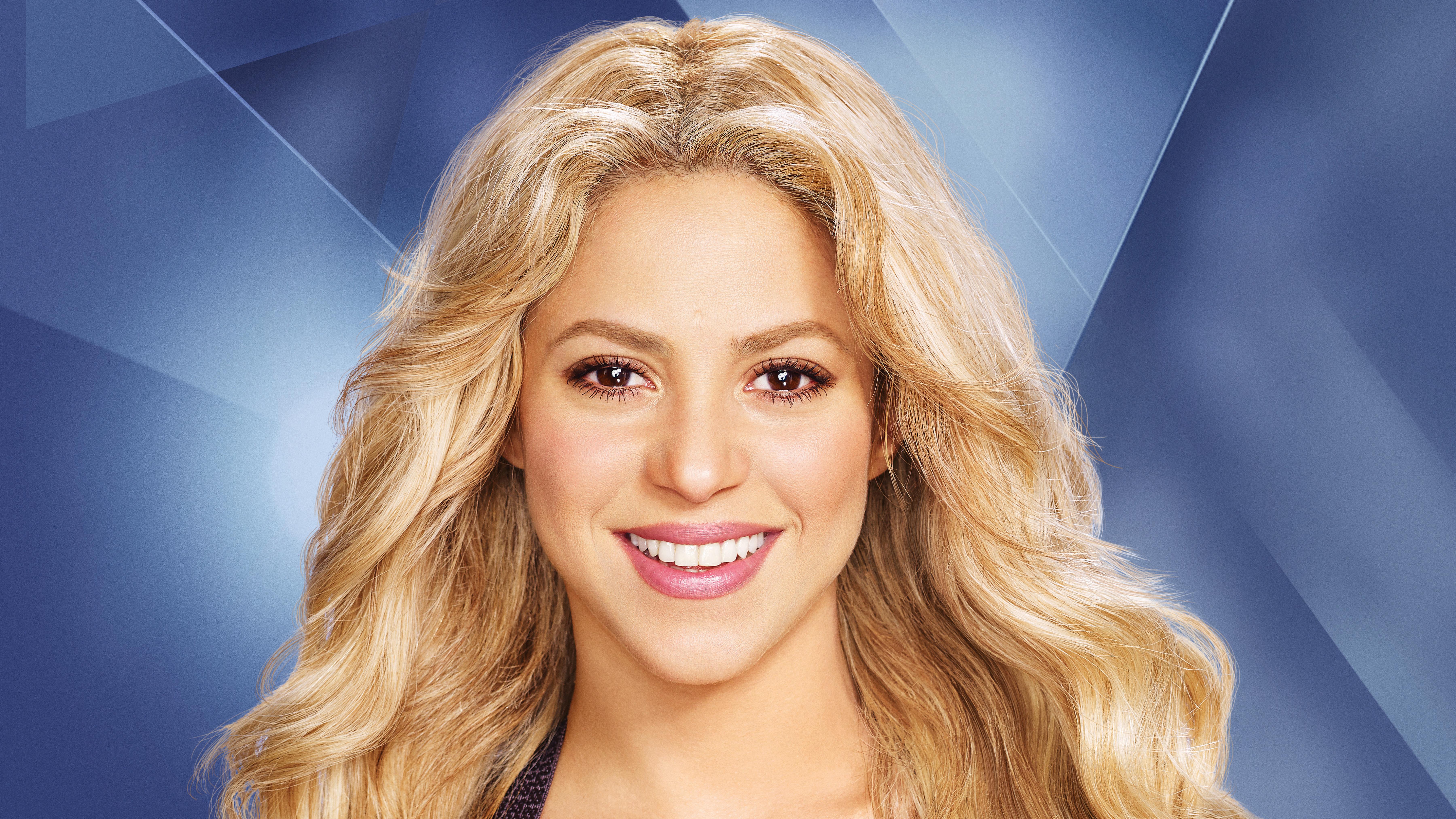 Обои Шакира, знаменитость, волосы, лицо, блондин в разрешении 3840x2160